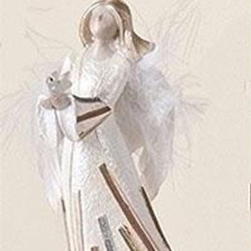 Christmas Ornament - Angel And Dove