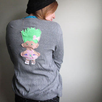 Vintage Treasure Trolls Cardigan Sweater