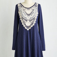 Mid-length Long Sleeve Shift Exultant Consultant Dress