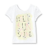 Girl's Back-Bow Graphic T-Shirt - Hello Sunshine