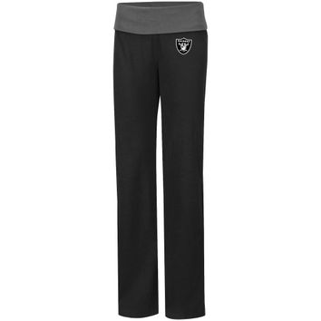 Oakland Raiders Ladies Final Days Stretch Pants - Black