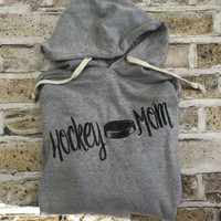 Hockey Mom, Hockey Shirts, Hockey Sweatshirt, Custom Shirt, Sports, Hockey, Cheer Mom, Wide Neck