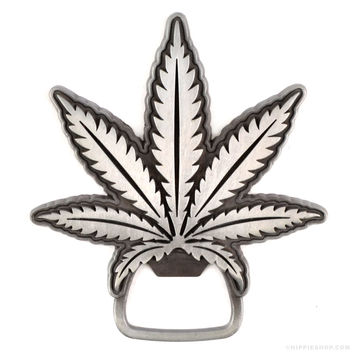 Pot Leaf Bottle Opener on Sale for $9.99 at The Hippie Shop