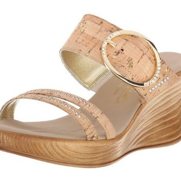 Onex Cynthia Wedge Cork Sandals