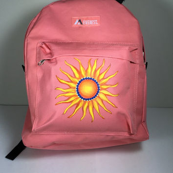 Sun Coral Everest Backpack Hand Painted