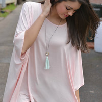 Close To You Pink Side Tie Top
