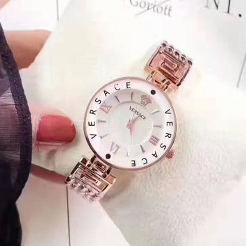 Versace Women Fashion Quartz Movement Watch WristWatch8