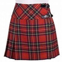 Great Gift : New Ladies Royal Stewart Tartan Scottish Mini Billie Kilt Mod Skirt