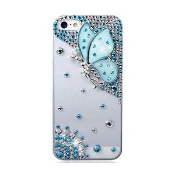 3D Bling CRISTAL Handmade Rhinestone Diamond Soft Shell Anti-Scratch White Back Case for iPhone X 4S 5S 5C 6/6P 7/7P 8/8P Case