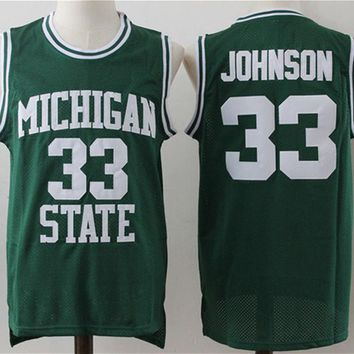 ONETOW Michigan State basketball jersey 33 Magic Johnson jerseys men's Cheap Embroidery sewing