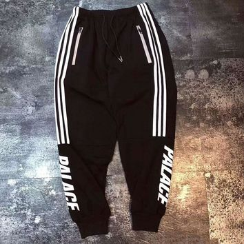 Palace Trending Reflective Three Stripe Yoga Gym Sports Fitness Sport Trousers Pants Couple Sweatpants I-CN-CFPFGYS
