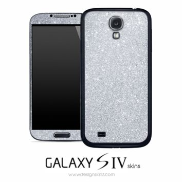 Silver Glitter Skin for the Galaxy S4