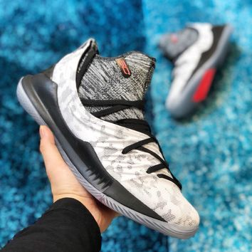 Under Armour Curry 5 Light Gray Basketball Shoe 40 46