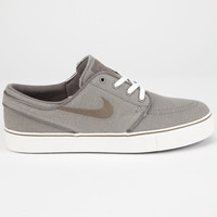 Nike Sb Stefan Janoski Linen Boys Shoes Grey  In Sizes