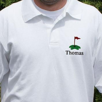 Embroidered Golfer Polo Shirt
