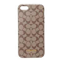 COACH iPhone® 5 Case in Signature Silicone Khaki/Mahogany - Zappos.com Free Shipping BOTH Ways