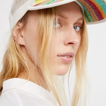 Free People Ziggy Straw Baseball Hat