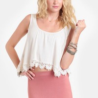 Loyal Scalloped Crop Top By For Love & Lemons