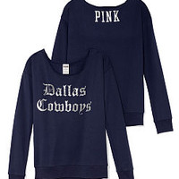 Dallas Cowboys Slouchy Crew - PINK - Victoria's Secret