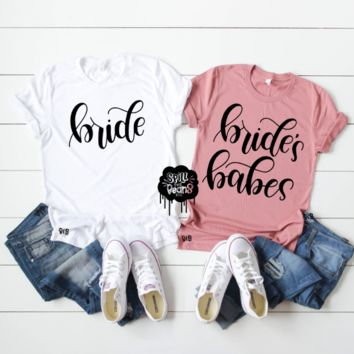Bride + Bride's Babes Bachelorette Party Girls Trip Shirts
