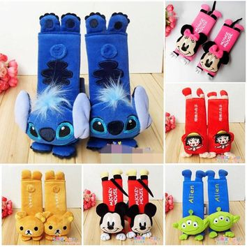 1 Pair Cartoon Car seat belts Shoulder Pad protector cute Auto Car Seat belt Cover Baby Child