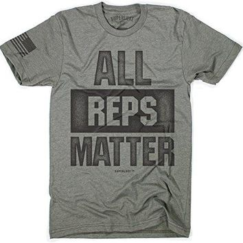 All Reps Matter - Mens Workout T-Shirt for the Heroes of Crossfit and the Gym