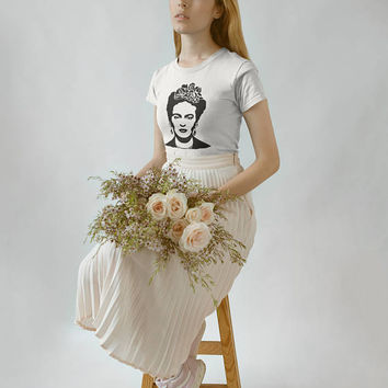 Frida Kahlo T-shirt, Frida Shirt - Unisex or Women's Size Tees Frida Kahlo Mexican Tshirt