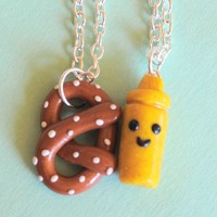 Handmade Pretzel & Mustard Best Friend Necklaces - Whimsical & Unique Gift Ideas for the Coolest Gift Givers