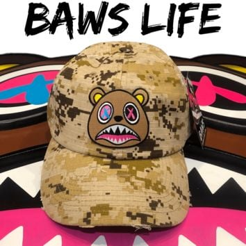 Crazy Baws Desert Digi Camo Distressed Dad Hat