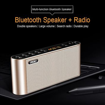 Super Bass Bluetooth Speaker Portable Wireless HiFi Subwoofer Speaker With Mic Led Display Speaker Support TF FM Radio For Phone