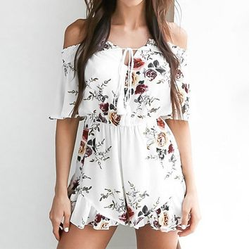 Floral Print Playsuits