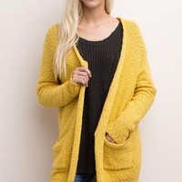 Yellow Knit Cardigan
