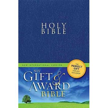 Holy Bible: New Internation Version, Blue Leather Look, Gift & Award Bible