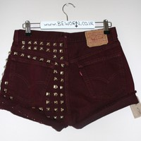 BeWorn — Vintage Half Stud High Waisted Levi's 501 in Burgundy