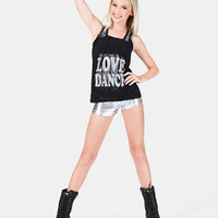 Free Shipping - Girls Flowing Nylon Tank Top With Lace Insert by TIA'S DANCEWEAR