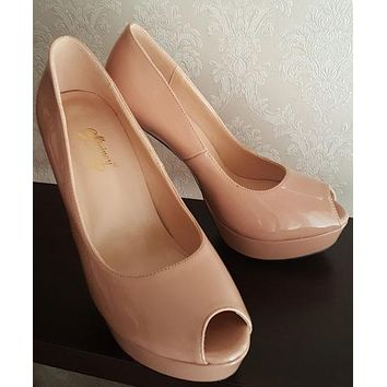 Women Summer High Heels Shoes Platform Pumps Fashion Wedding Party Peep Toe Pumps Shoes