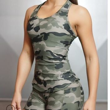 Body Engineers Women Tank Tops Sexy Camouflage Fitness GymTank Shirt Crossfit Bodybuilding Sleeveless Vest Stringer Female Tops
