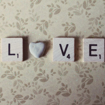 love, typography, rock, heart, fine art photography