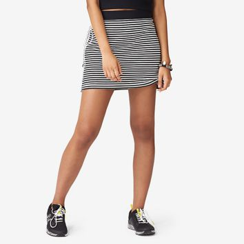 Kate Spade Saturday Kickaround Side-zip Skirt In Crosswalk Stripe