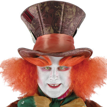 costume accessory: disney mad hatter hat with hair