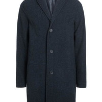 Navy Wool Rich Overcoat - Up To 40% Off Coats - Offers