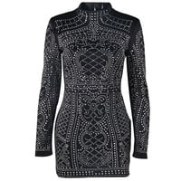 Evelyn Belluci - Geometric Studded Dress