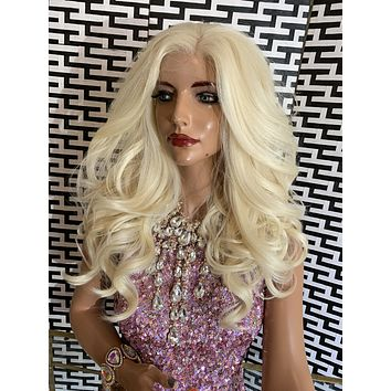 "DARCI lace 13x4 frontal wig 18"" long blonde hair"