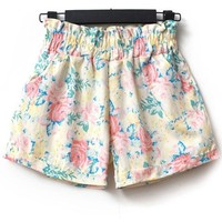 Sweet Flower High Waist Shorts