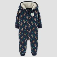 Baby Boys' Moose Fleece Hooded Jumpsuit - Just One You™ Made by Carter's® Navy
