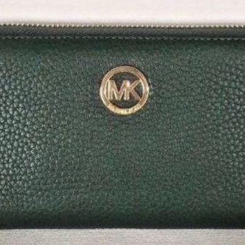 NWT Michael Kors Fulton Large Flat MF phone case Leather Moss wristlet