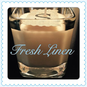 Fresh Linen Scented Soy Candles