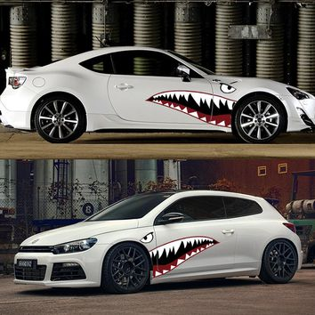 Car Accessorie Decoration Stickers Personality Shark Car Racing Decal Auto Door Sticker Camouflage Vinyl Stickers For Cars