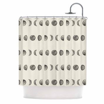 "KESS Original ""Phases Of The Moon"" Beige Gray Shower Curtain"