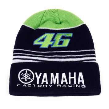 b5c0dc62b3739 MOTO GP VR46 Winter Hat Factory Racing Beanie Rossi Warm Thicker Skullies  Beanies Elasticity Outdoor Sport